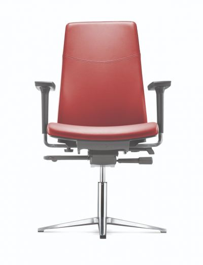 Visitor/ Conference Chair with Pronged Aluminium Base