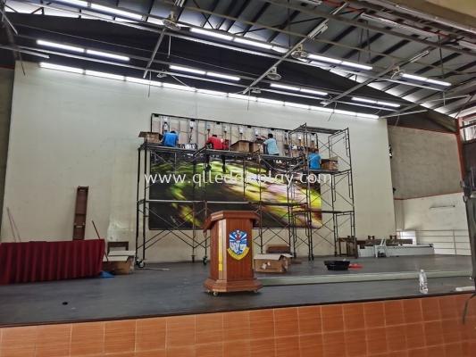 Primary School Stage Background LED TV Screen - SJKC Senai