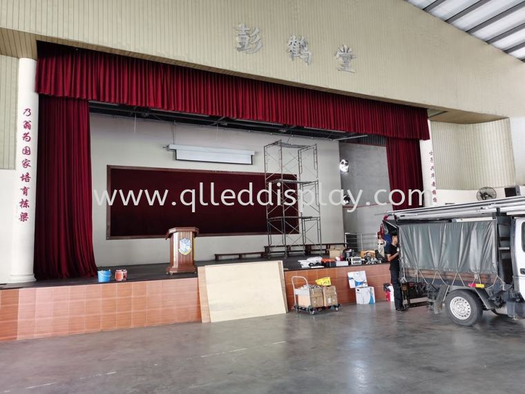 Primary School Stage Background LED TV Screen - SJKC Senai Primary School Hall Stage Effect LED Display Screen