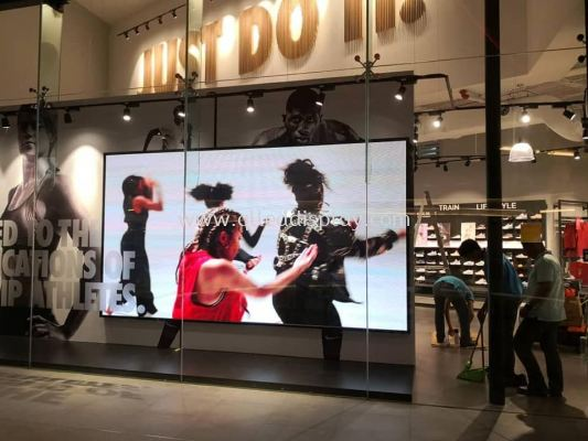 Mid Valley Southkey Megamall  - Nike Shop Window LED Screen