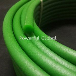 PU round belt polycord Green