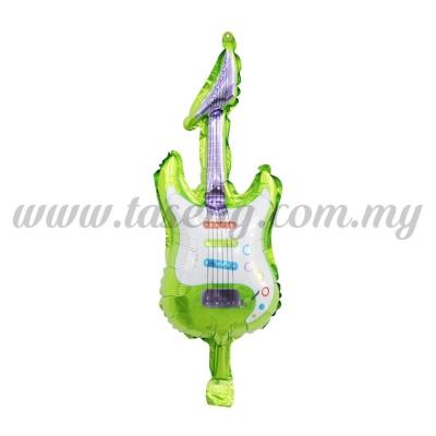[Cartoon] Mini Foil Balloon *Guitar Green (FB-S-N0018G)
