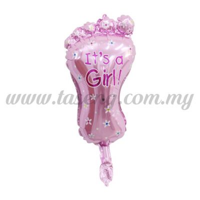 [Baby] Mini Foil Balloon *Foot - It's A Girl Pink (FB-S-N0047)