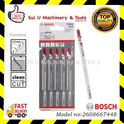 BOSCH 2608667448 T 302 H Clean for PVC Jigsaw Blades 132mm 5pcs