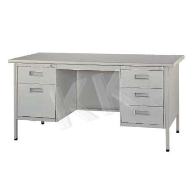 Double Pedestal Steel Desk