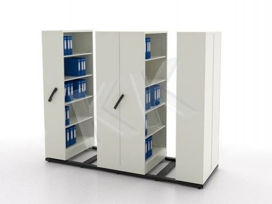 Steel 4 Bay Mobile Filing Compactor