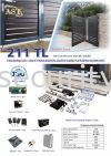 211TL TRACKLESS FOLDING AUTO GATE SYSTEM AST 自动门系统