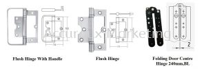 Additional Accessories For Folding Hinge Sliding Door System 02. ARCHITECTURAL SLIDE AND FOLD