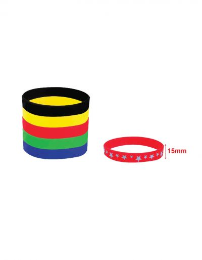 Ready made Silicone Wristband (15mm)