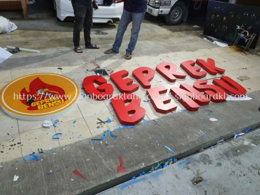3D aluminum box up channel led lettering supply in klang