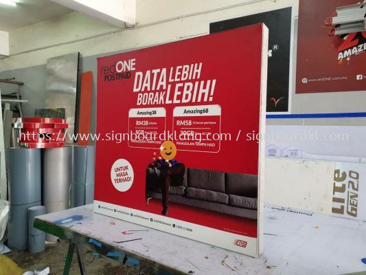 red one indoor Led frabic light box signage signboard at Kuala Lumpur and klang