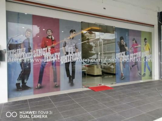 Oren sport clear inkjet glass Sticker at petaling jaya Kuala Lumpur