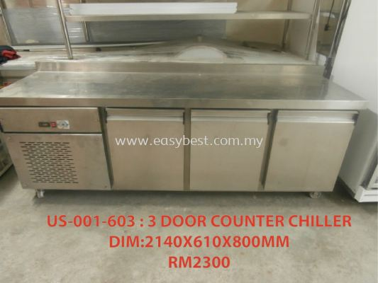 CODE:001-603 (3 DOOR COUNTER CHILLER)