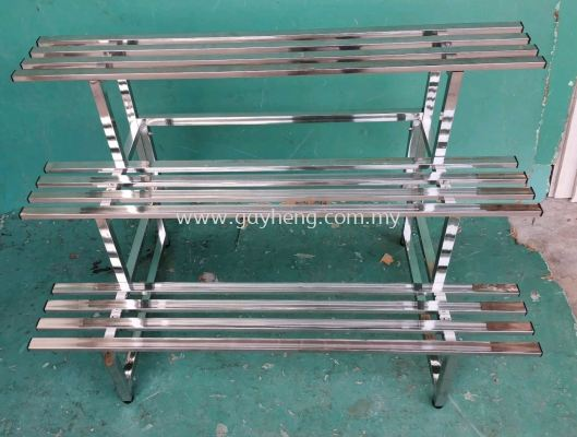 Stainless Steel 3 Tier Flower Rack �׸�3�㻨��
