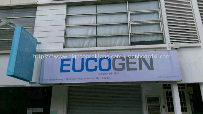 eucogen normal metal g.i signboard at klang