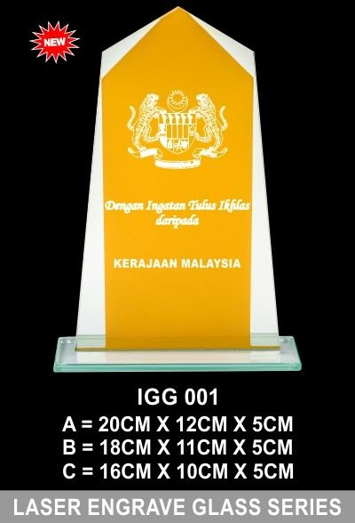 IGG 001 LASER ENGRAVE GLASS SERIES