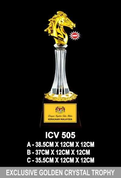 ICV 505 EXCLUSIVE CRYSTAL GOLDEN TROPHY