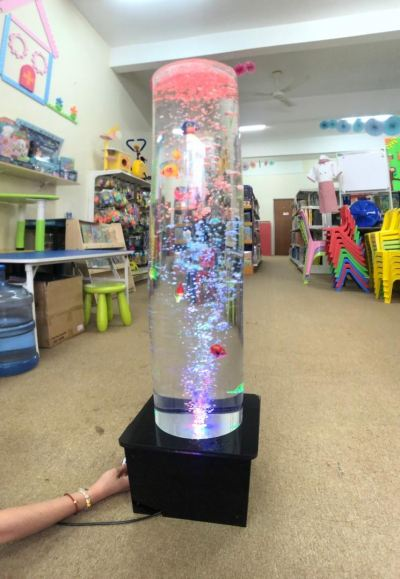 Acrylic Tube Bubble Column Water Features 1m x 200mm