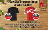 Roundneck Microfibre Eyelet T-shirt Promo * While stock Last