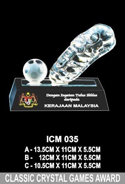 ICM 035 CLASSIC CRYSTAL GAMES AWARD