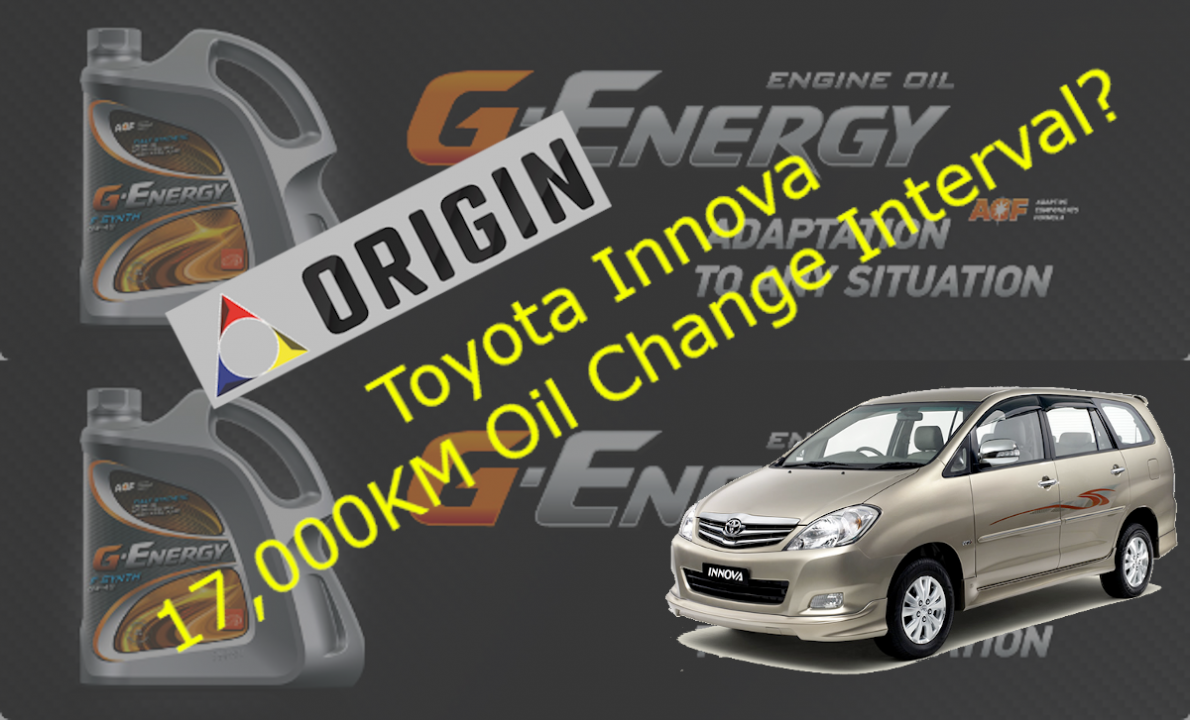 Test review of G-Energy F-Synth 5W-40 on Toyota Innova 2.0L