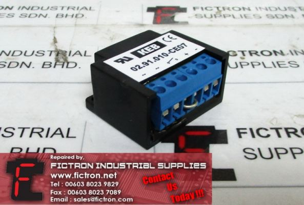 02.91.010-CE07 0291010CE07 KEB Motor Brake Rectifier Supply Malaysia Singapore Indonesia USA Thailand