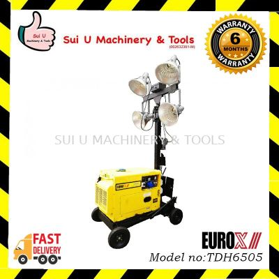 EUROX TDH6505 Mobile Lighting Tower Power by Diesel Engine 4X400 Watts Lamps