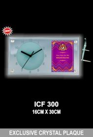 ICF 300 EXCLUSIVE CRYSTAL PLAQUE