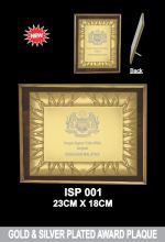 ISP 001 PLATED AWARD PLAQUE