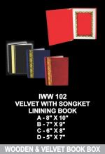 IWW 102 VELVET WITH SONGKET LINING BOOK