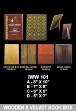 IWW 101 WOODEN & VELVET BOOK BOX