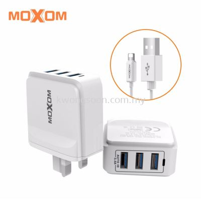 Moxom USB 2 / 3 Port Adapter Fast Charge Adapter Moxom