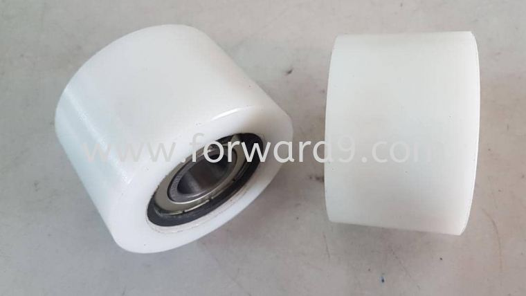 Tapered Nylon Roller c/w Bearing 6202 & C-clip  Nylon Polymer ( PU / Rubber etc )