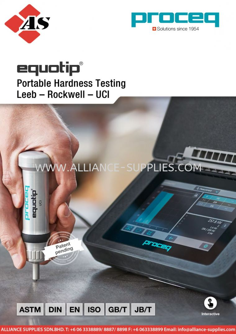 PROCEQ Equotip 550 UCI 4.01 Portable Hardness Tester 04.PROCEQ