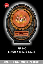 IFF 100 TRADITIONAL MOTIF PLAQUE BRONZE