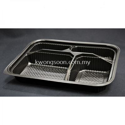 Plastic Bento Box Take Away 3 / 4 / 5 Compartment Wholesale