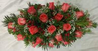 Low And Long Basket Arrangement (BA-205) Long And Low Flower Arrangement Basket Arrangement
