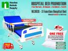 NL303S [Full Set] Hospital Bed 3 Function (Manual) Manual Hospital Beds Hospital Beds