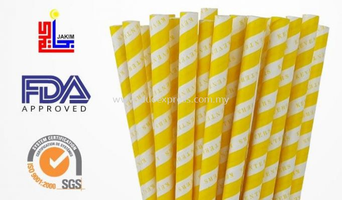 yellow-color-paper-straw