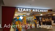 Stars Archery 3D LED box up front lit LED 3D Signage