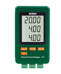 Extech SD900: 3-Channel DC Current Datalogger