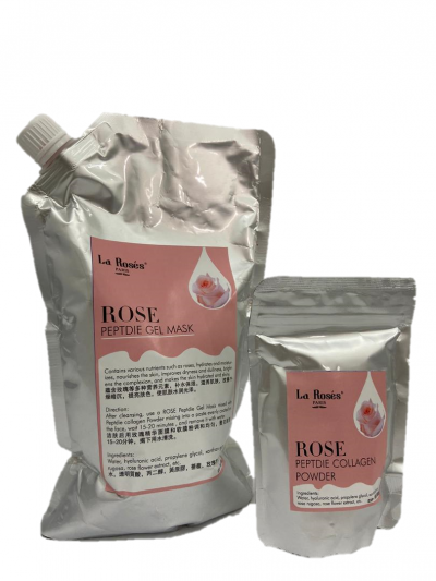 ROSE PEPTDIE GEL MASK/PEPTDIE COLLAGEN POWDER