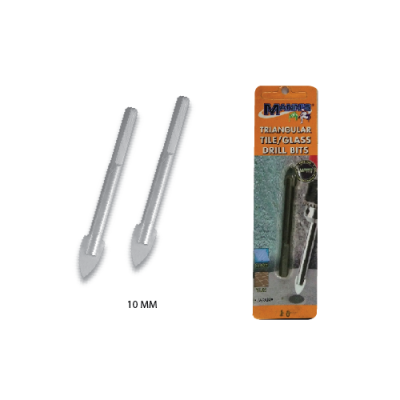 "MN  A   10 MM  ""TRI-ANG"" GLASS DRILL BITS - 00718G"