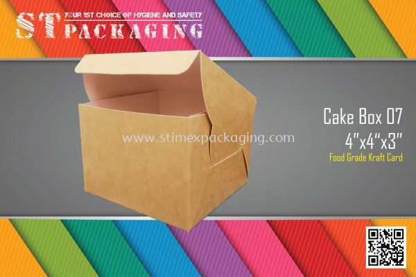 "Cake Box 07 4""x4""x3"" @ 15pcs x RM2.10/pc"