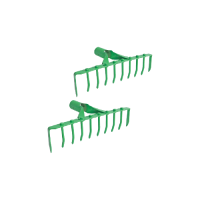 ^  D1  ~APPLE GREEN~   10   TEETH  RAKE - 00286BB