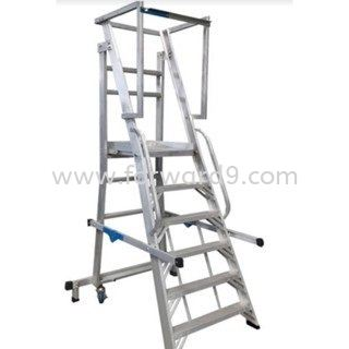 YFWS Series Heavy Duty Foldable Warehouse Step Ladder Ladder  Ladder / Trucks / Trolley  Material Handling Equipment
