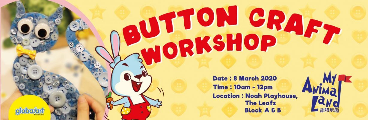 Benny Bunny in the Class - Button Craft