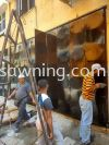 Folding Iron Plate Door @Jalan SBC 2, Taman Sri Batu Caves, Selangor  Grill Door