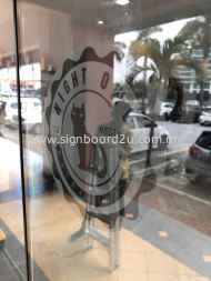 CJ Hair And Beauty Saloon Frosted Sticker At Klang,Selangor
