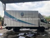 Medives Linen And Laundry Services box truck cutting sticker at subang selangor